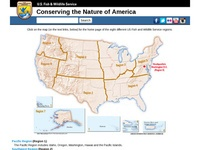 U.S. Fish and Wildlife Service's Regions Map