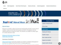Lunar and Planetary Institute's Explore! Marvel Moon