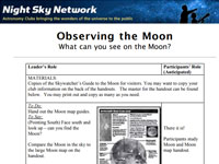 NASA Night Sky Network's Observing the Moon (PDF)