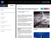 NASA's What Was the Apollo Program?